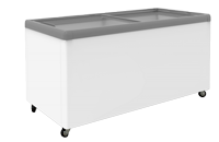 Flat Glass Display Chest Freezers