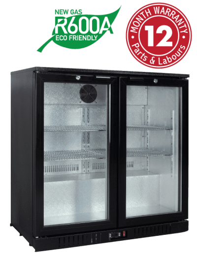 Low Height Backbar Display Refrigerators - Two Swing Doors