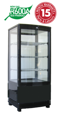 Vertical Counter Top Display Refrigerators
