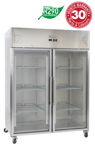 Two Glass Doors Upright Storage Refrigerators