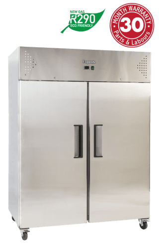Two Solid Doors Upright Storage Refrigerators