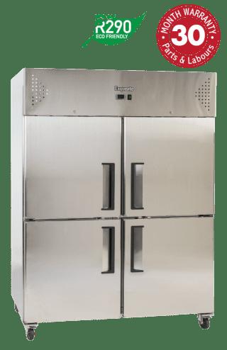 Two Solid Split Doors Upright Storage Refrigerators