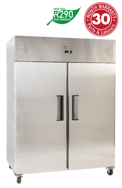 Two Solid Doors Upright Storage Freezers