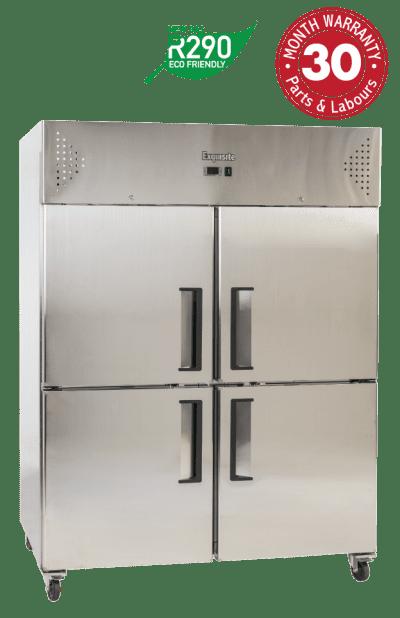 Two Solid Split Doors Upright Storage Freezers