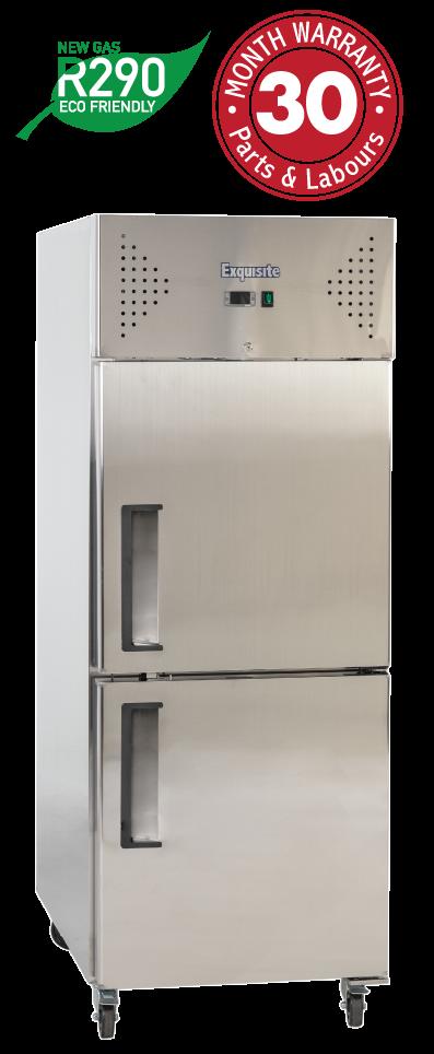 One Solid Split Doors Upright Storage Freezers