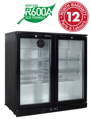 Backbar Display Refrigerators - Two Swing Doors