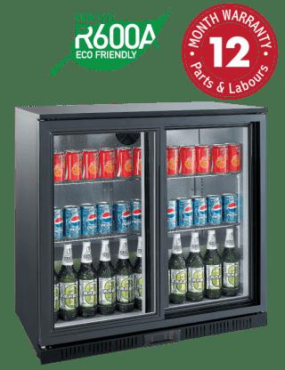 Backbar Display Refrigerators - Two Sliding Doors