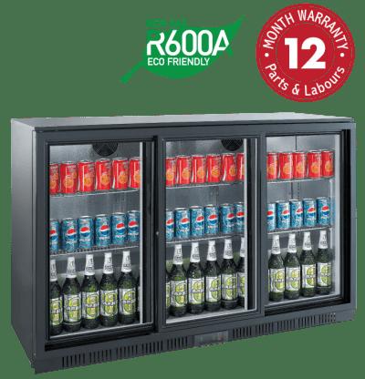 Backbar Display Refrigerators - Three Sliding Doors