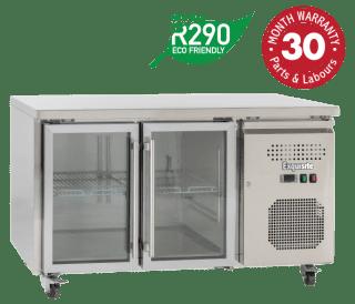 Two Glass Doors Underbench Storage Refrigerators