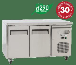 Two Solid Doors Underbench Storage Freezers