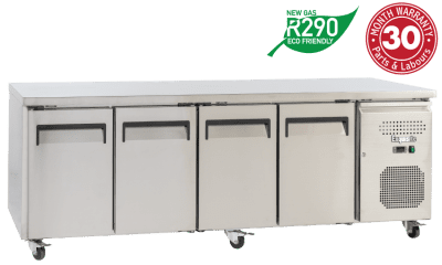 Four Solid Doors Underbench Storage Freezers